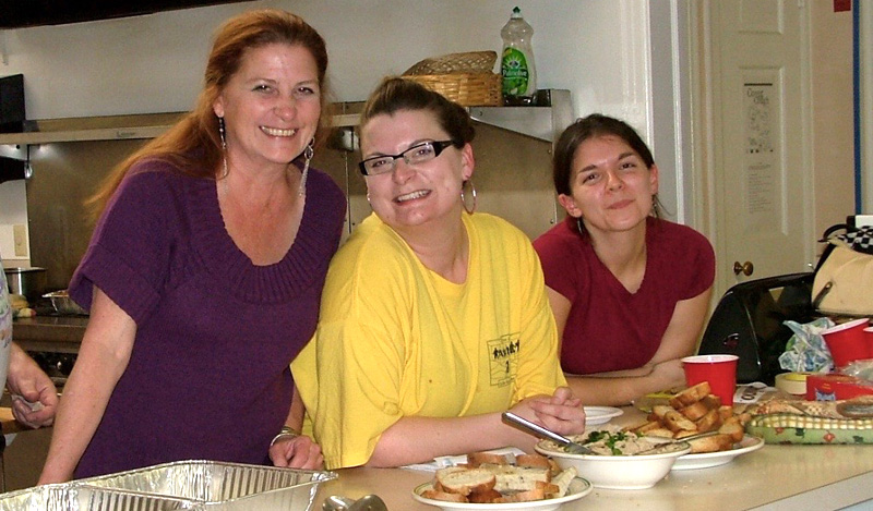 Adolescent Service Staff (and family) at the Thanksgiving Dinner