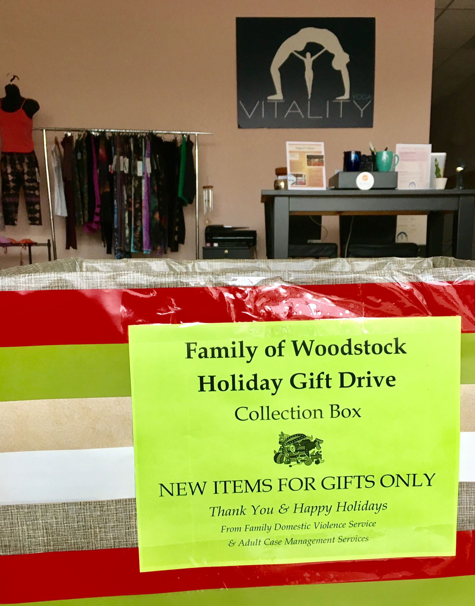 Thank You For Supporting Our Holiday Gift Drive Family Of Woodstock